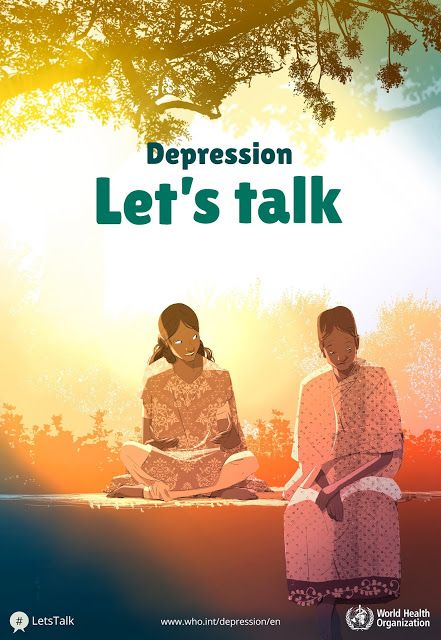 Depression Let's talk, An older women with a younger woman, WHO