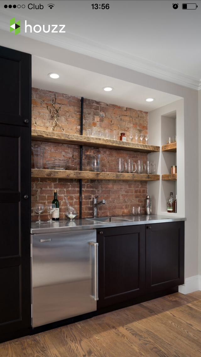 Pin by robert on morning bar pinterest basements bar for Modern wet bar designs