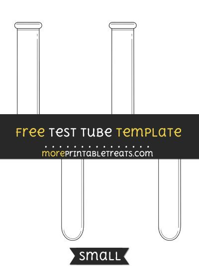 Free Test Tube Template - Small Shapes and Templates Printables - free test templates