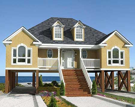 Raised beach house plans with elevator house plans with for Beach house plans with elevator