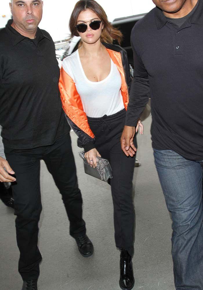 Selena Gomez at at Los Angeles International Airport (LAX) on April 7, 2016