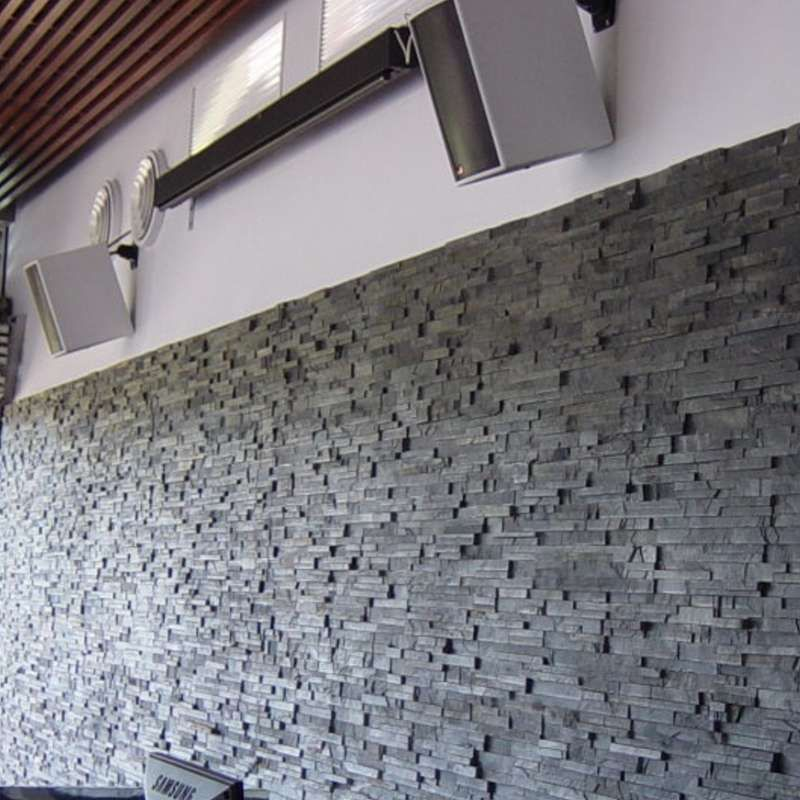 Mrs Stone Store - Economic Maxi Stepped 3D Black Slate Wall Cladding ...