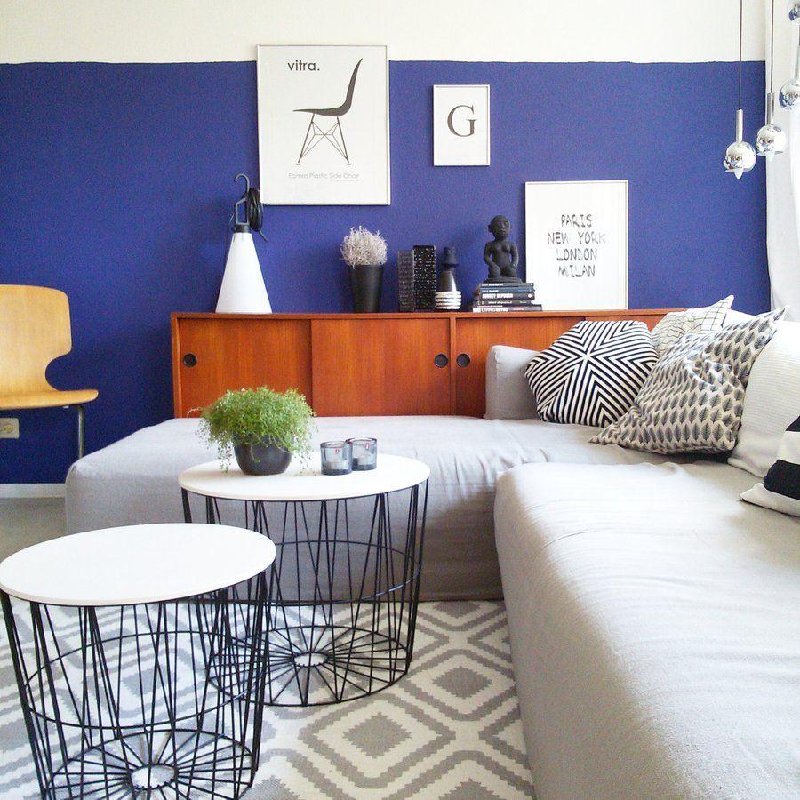 deko blau interieur idee wohnung m246belideen