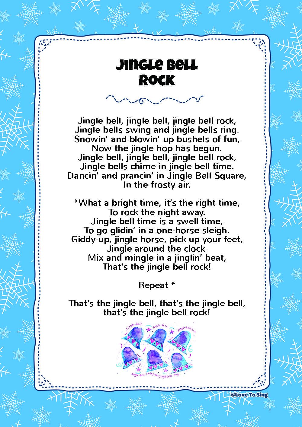 Jingle Bell Rock   Christmas songs for kids, Christmas songs lyrics, Kids video songs