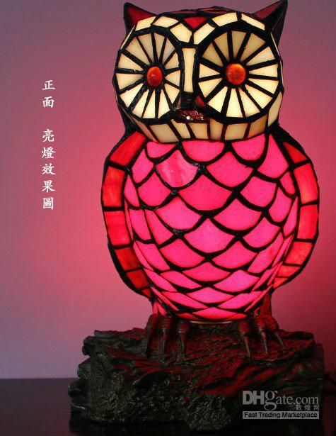 Tiffany Night Lamps With Owl Style Table Lamp Ysl Td0102