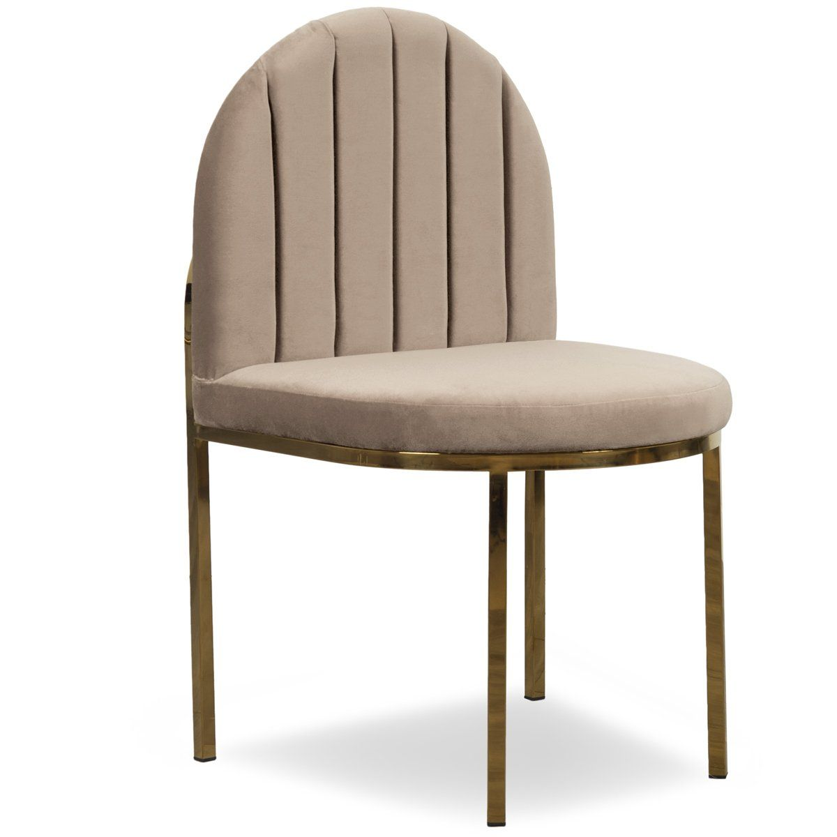 008 Dining Chair In Channel Tufted Velvet Dining Chairs Leather