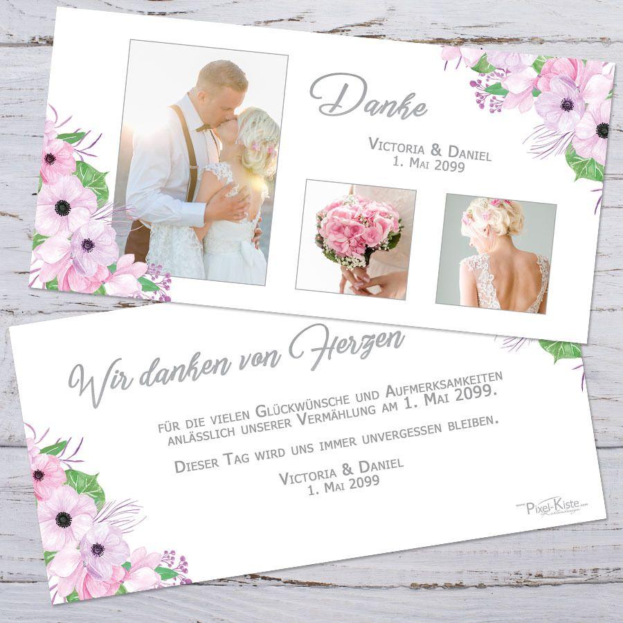 Danksagungskarten für die Hochzeit Boho-Stil Victoria