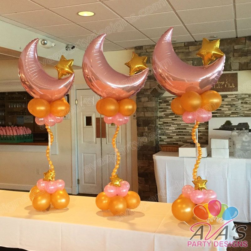 Twinkle little star balloon centerpieces moon and