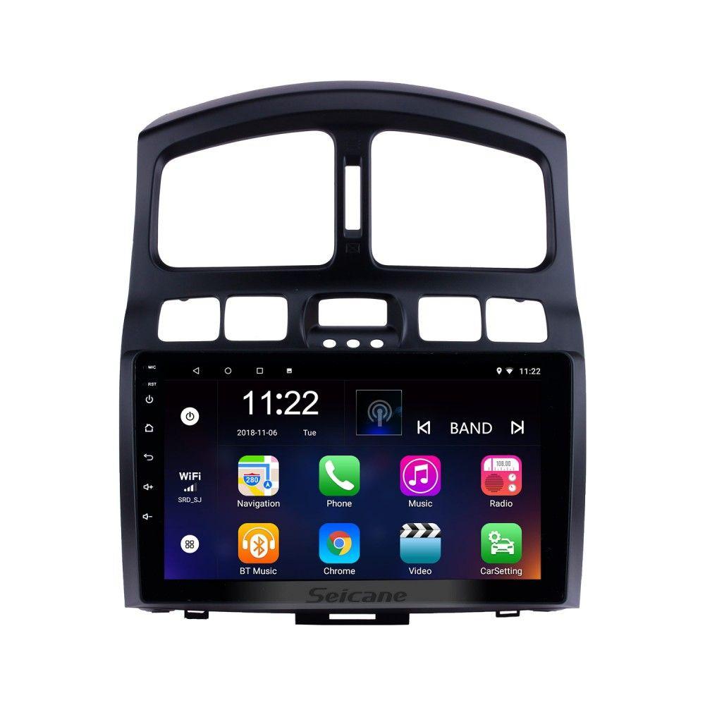 9 Inch 2005 2015 Hyundai Classic Santafe Hd Touch Screen Head Unit Gps Navigation Aux Mp3 Bluetooth Car Stereo Tv Tuner Rearview Camera Bluetooth Car Stereo Car Bluetooth Car Gps