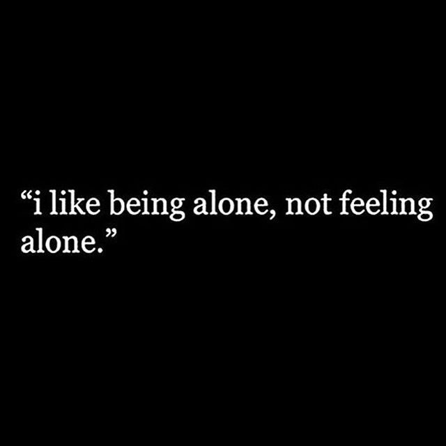 Depression and being alone