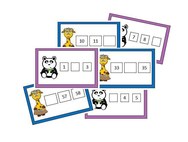 Atelier numération : suite numérique des nombres jusqu'à 101