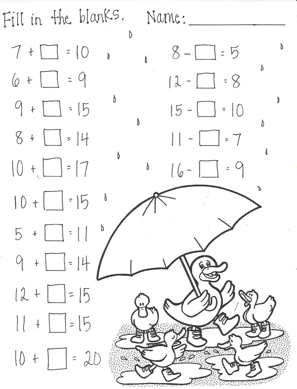 Dr Seuss Subtraction Worksheets