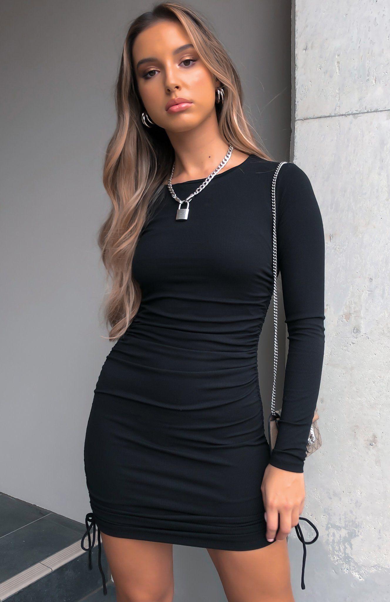 Sweet Salvation Long Sleeve Ribbed Mini Dress Black Long Sleeve Dress Outfit Tight Long Sleeve Dress Black Dress With Sleeves [ 2048 x 1328 Pixel ]
