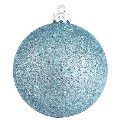 3 Silver 6 Inch Glitter Bird Christmas Shatter Resistant Ornament Decoration