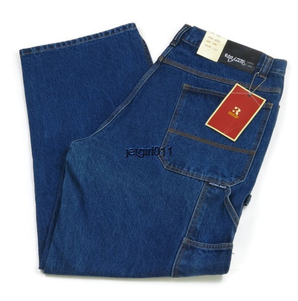 Roglins Mens Jeans Carpenter Medium Blue 38 x 32 Style 228 C-61 ...
