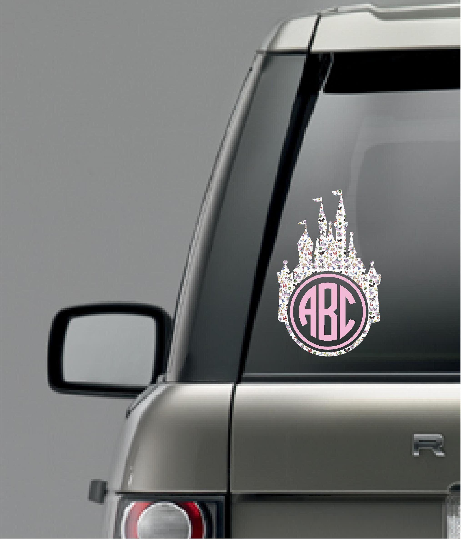 Castle Decal Monogram Car Decal Laptop Decal Monogram Etsy Disney Car Stickers Disney Car Accessories Car Monogram Decal [ 2372 x 2028 Pixel ]