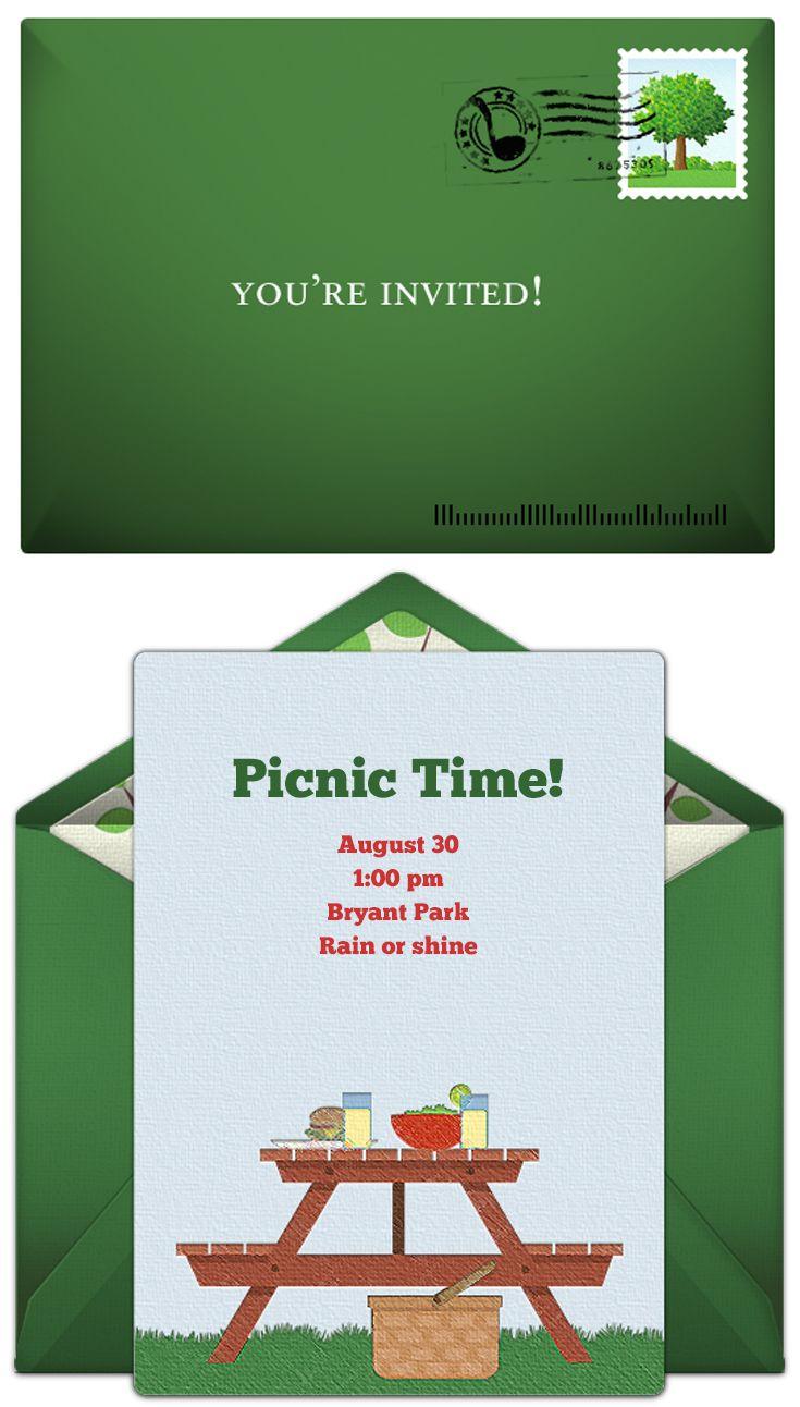 free picnic table invitations