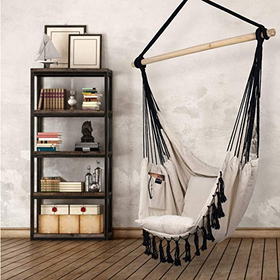 Hammock Chair Hanging Rope Swing Seat for