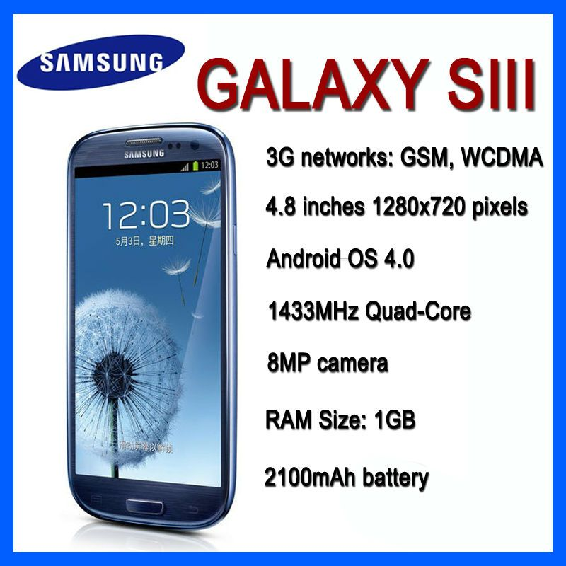 Find More Mobile Phones Information About Original Unlocked Samsung I9300 Galaxy S3 4 8 Inch 1gb Ram 16gb Rom Refurb Samsung Galaxy Samsung Mobile Phone Store