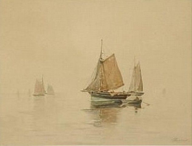 Henri Cassiers - Bateaux près du rivage #3