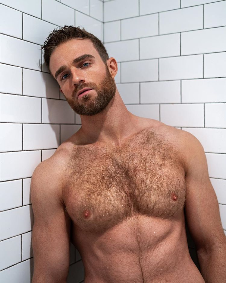 Hairy chested young men