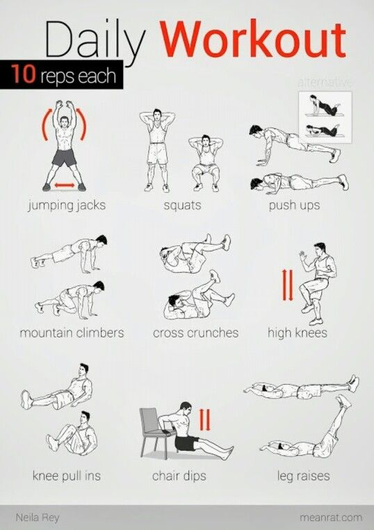 Gonna Start This 3 Sets 10 Reps Easy Daily Workouts Daily Workout Bodyweight Workout