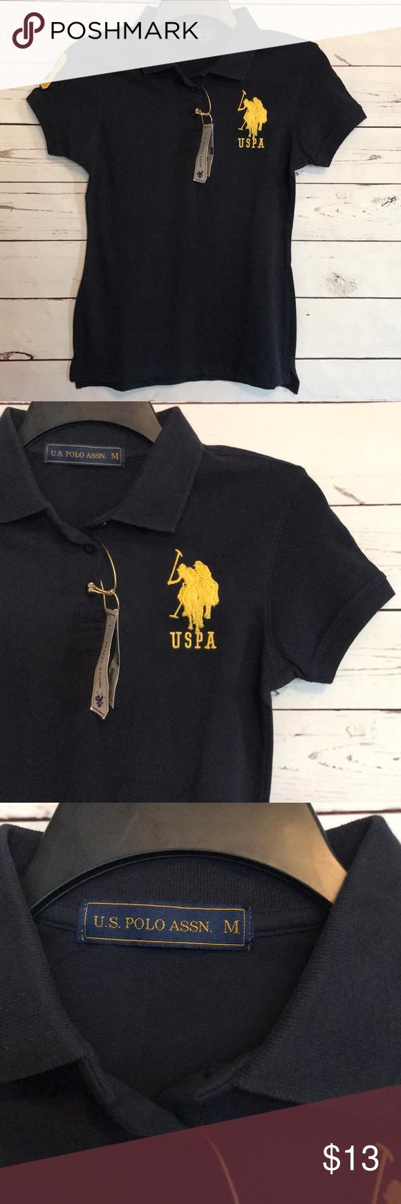 Nwt Us Polo Assn Girl Polo Shirt New Dark Navy Blue U S Polo Assn Shirts Tops Polos Polo Shirt Girl Clothes Design Polo Assn