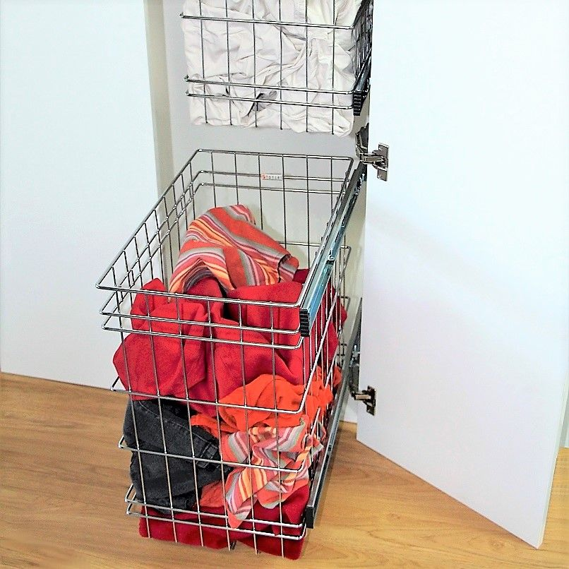Stainless Steel Pull Out Baskets For Tall Laundry Cabinets Narrow Bathroom Storage Broom Storage Laundry Storage