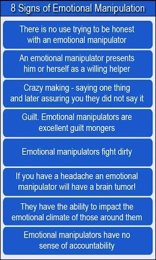 Emotional abuse manipulation signs