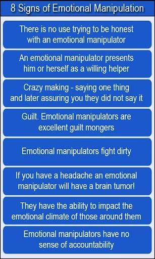 Emotional abuse manipulation signs