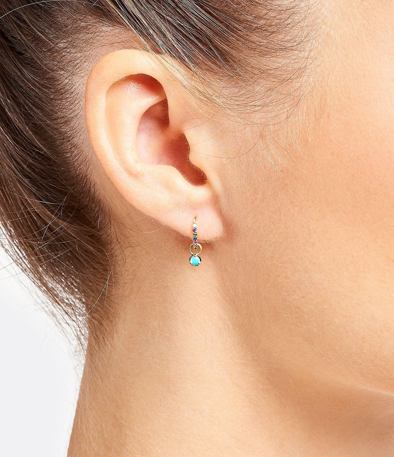 Mode Plaqué Or Corne Drop//Dangle Earrings