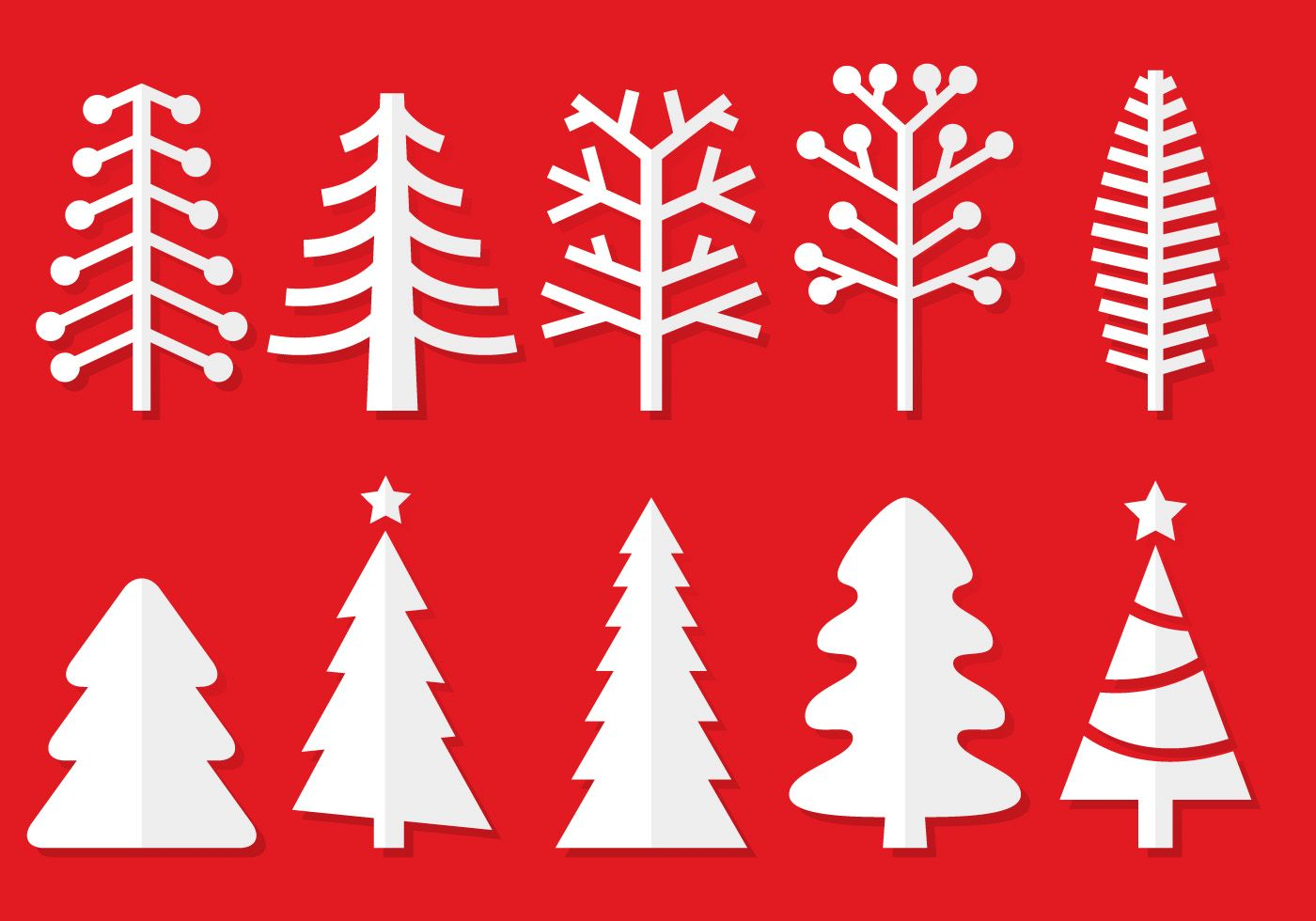 If you need some Christmas tree silhouettes with a paper