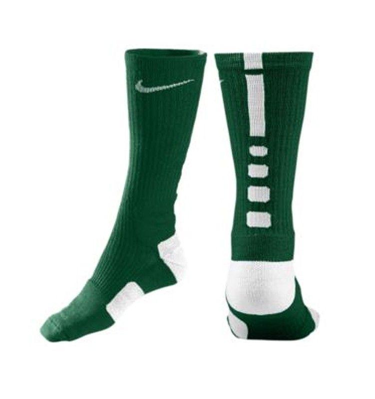 vente d'usine vente boutique pour Nike Élite Chaussettes De Basket-ball Vert Et Blanc vente 100% garanti mcAE7E