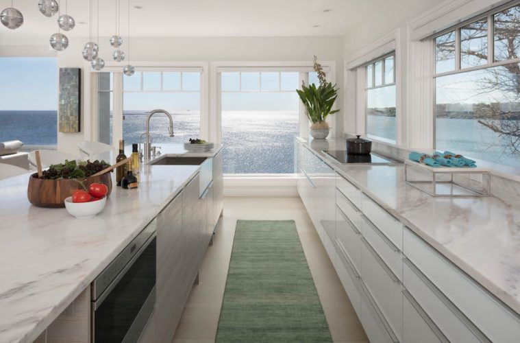 Marble Kitchen With An Ocean View Ocean View Kitchen View
