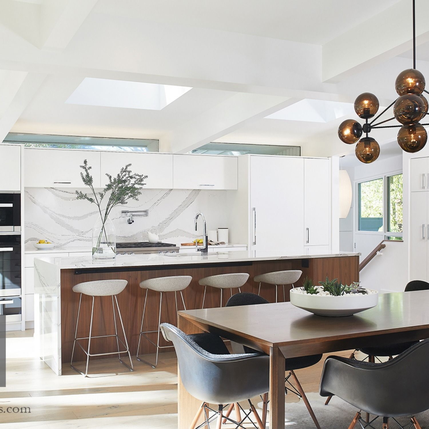 The Kitchen, Designed By TruKitchens Of Grand Rapids, Michigan, Features  Cabinets From Grabill Cabinets In Their Frameless U201cModeu201d Door Style In A  U201cBlancou201d ...