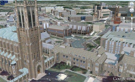 map of duke campus Duke University Unveils An Excellent 3d Campus Map Campus Map map of duke campus