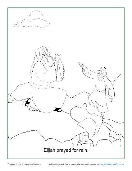 Elijah Prayed for Rain Coloring