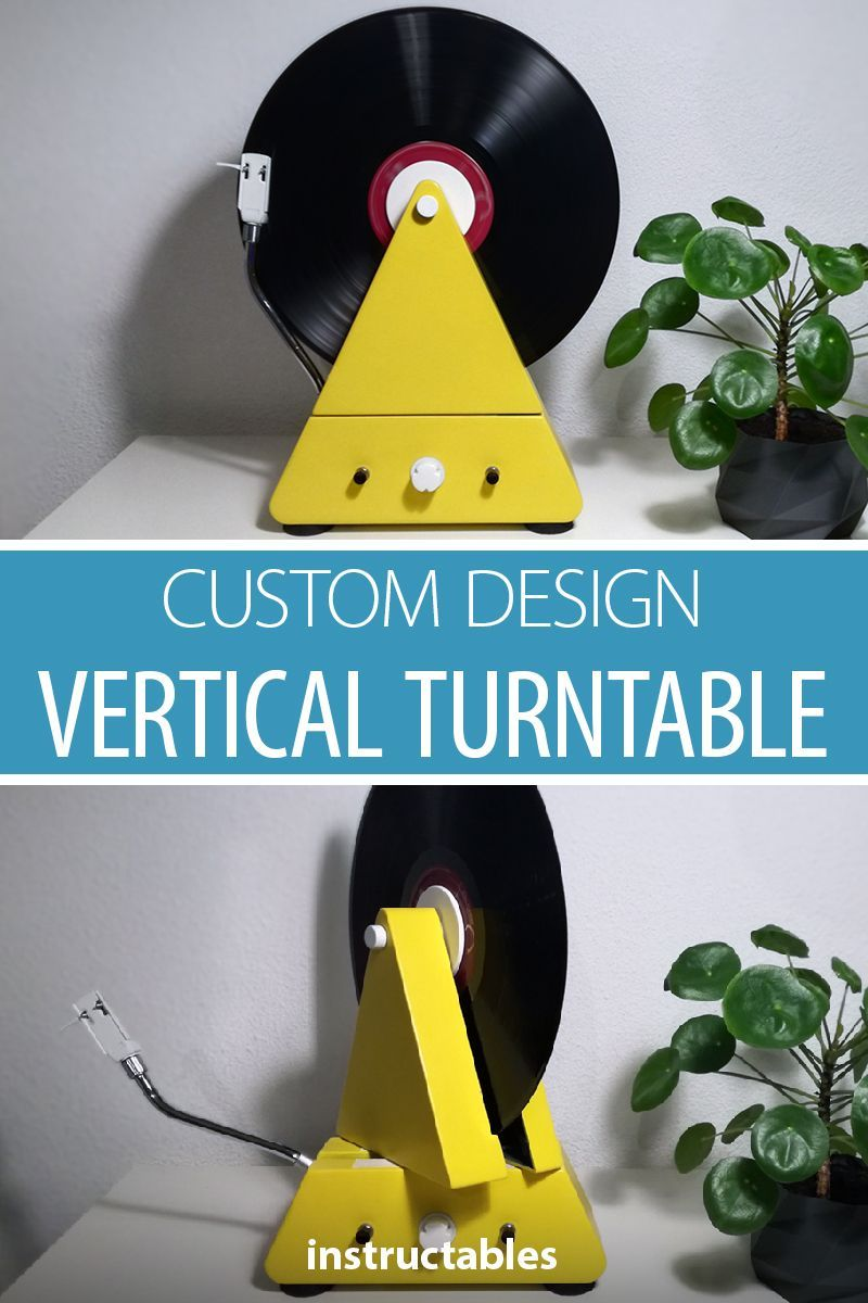 Custom Design Vertical Turntable   Arduino   Diy tech, Turntable