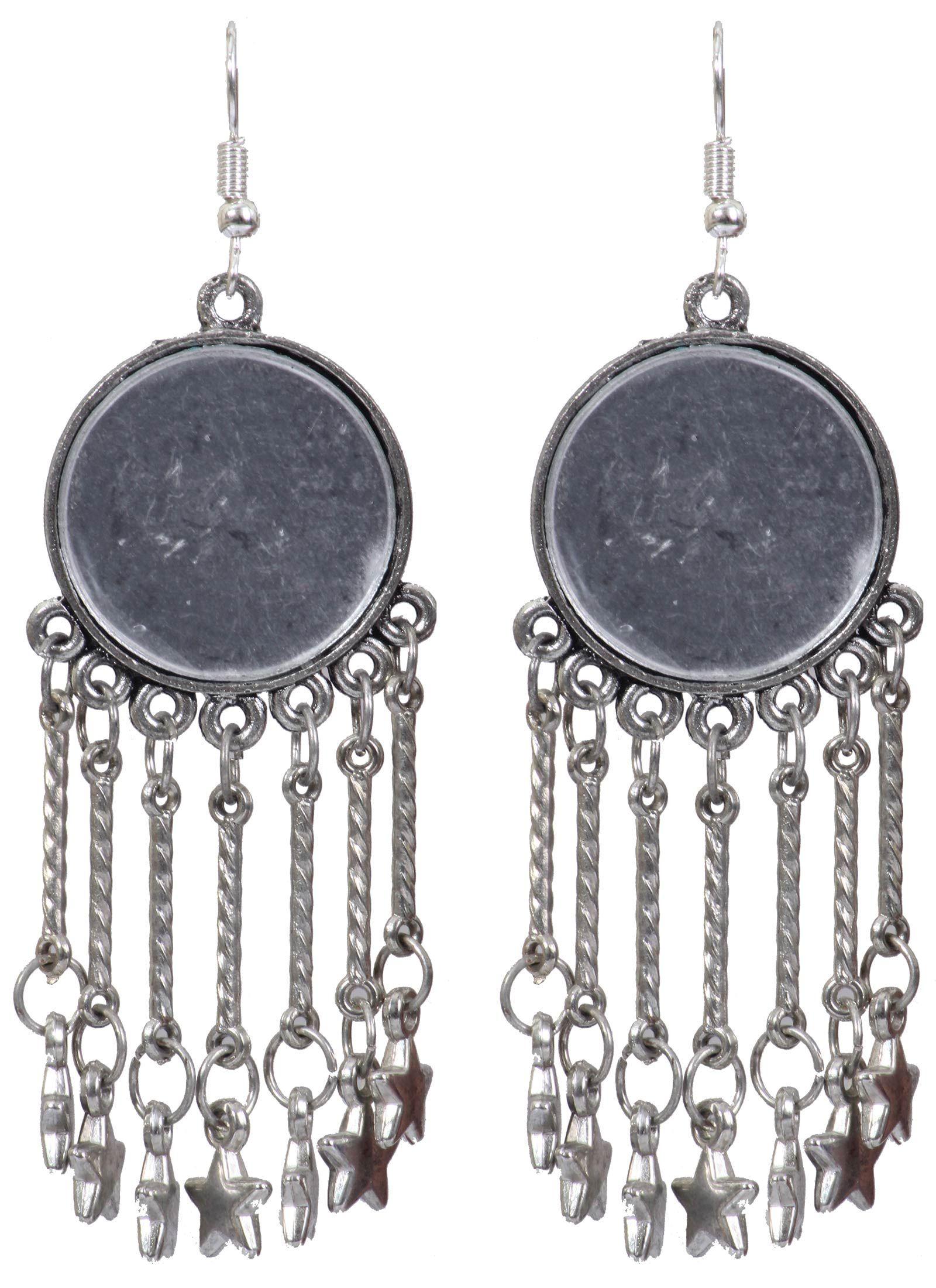 e575cfcfa Stars Designer Hanging German Silver Jhumkas Product code: JUJA90J194 Retail  price: 317/- Sale price : 288/-