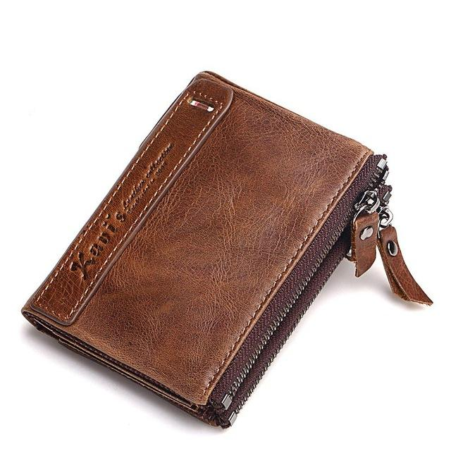 Cowboy Men Man Vintage Genuine Leather Bifold Wallet Card PURSE with Coin Pocket