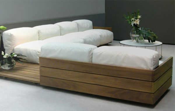 interessantes wohnzimmer gestaltung mit einem ecksofa aus paletten f r zu hause pinterest. Black Bedroom Furniture Sets. Home Design Ideas