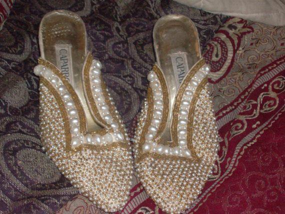 Vintage caparros sequin pearl beaded