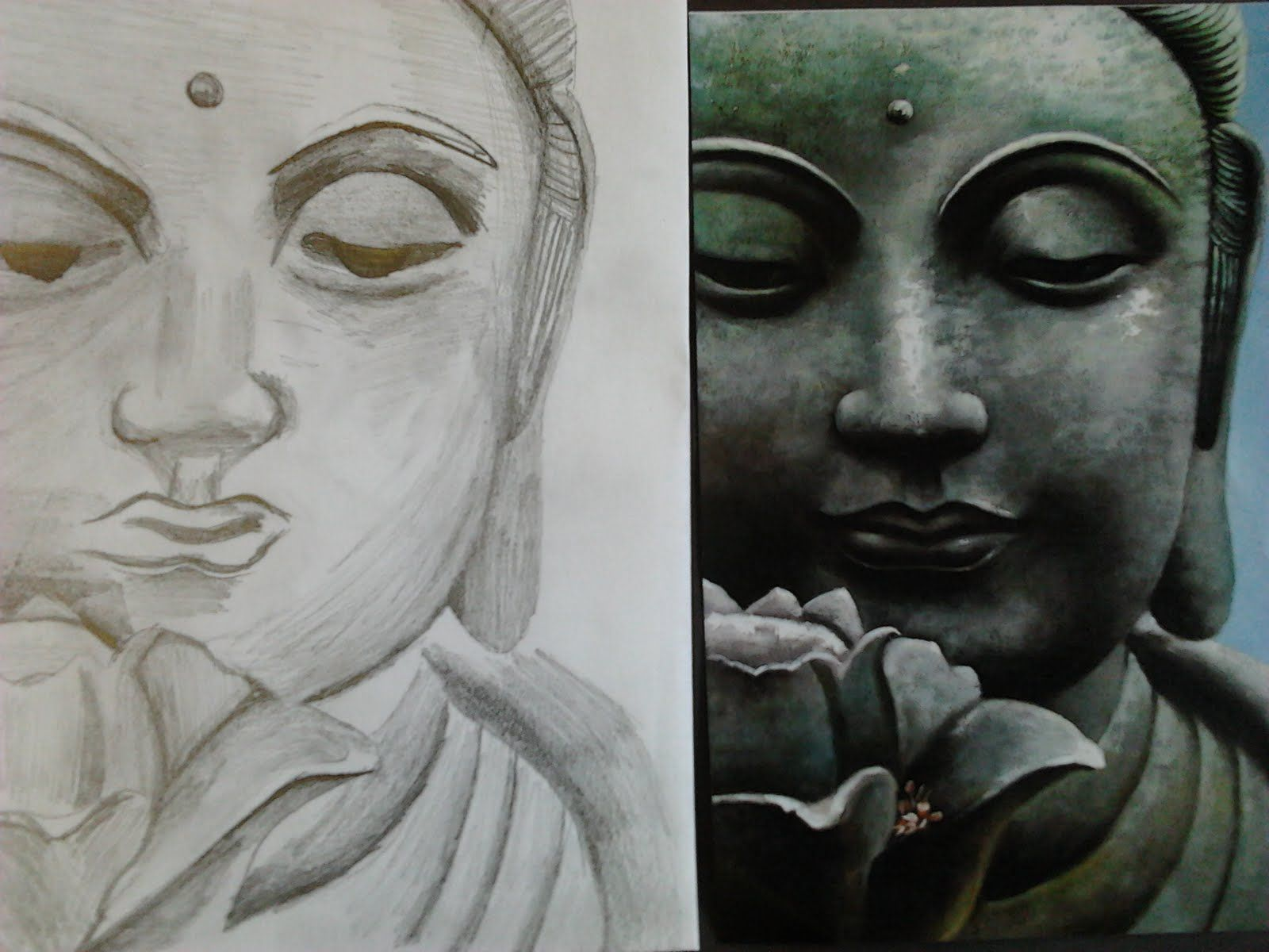 Buddha Pencil Drawing For Tattoos Pictures | Drawing and ...