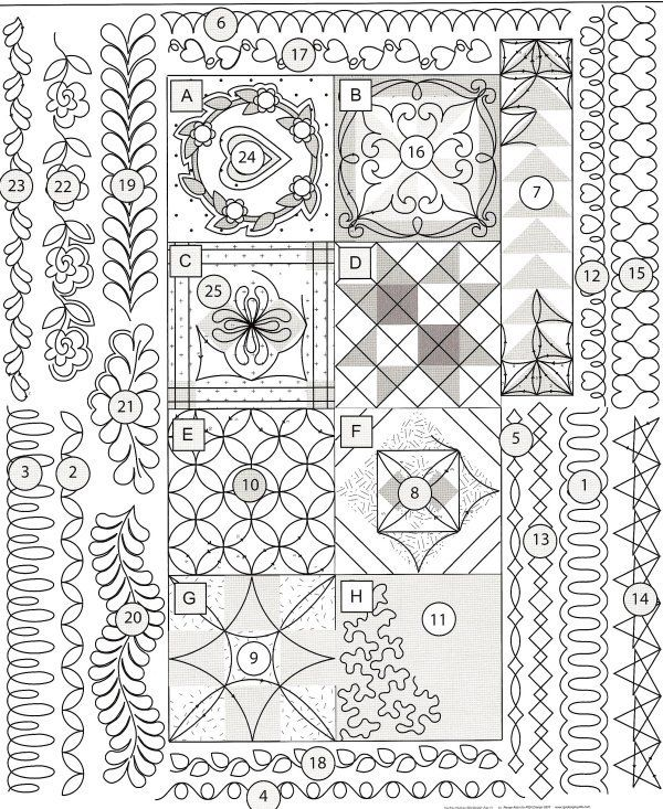 On the Mark …some new and old favourites for marking your quilt ... : free printable quilt stencils - Adamdwight.com
