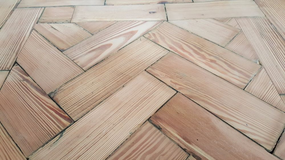 Reclaimed Old Victorian Pitch Pine Parquet from an old