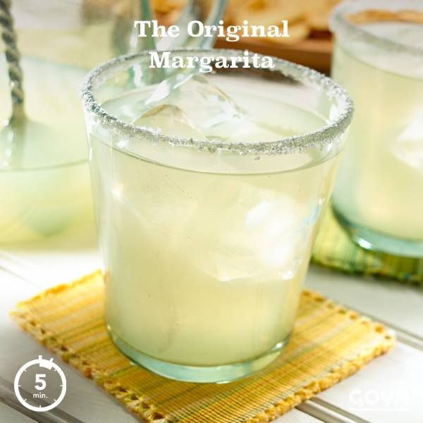 We're Latin, so we can handle it an Original Margarita. Can you? We'll take that as a yes.