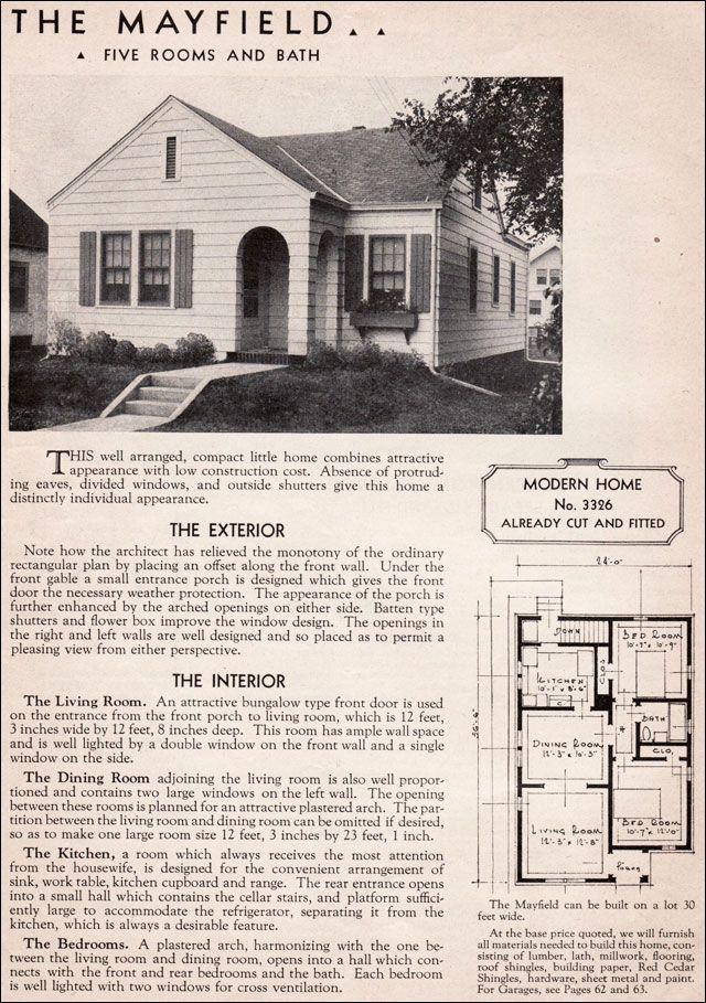 Sears Roebuck Kit Homes 1908-1940. \