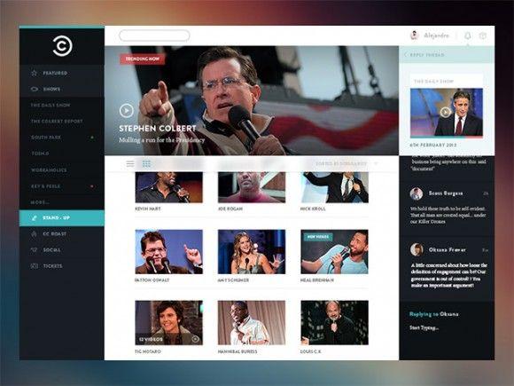 Comedy Central Concept Psd Freebiesbug Comedy Central Website Template Design Free Psd Design