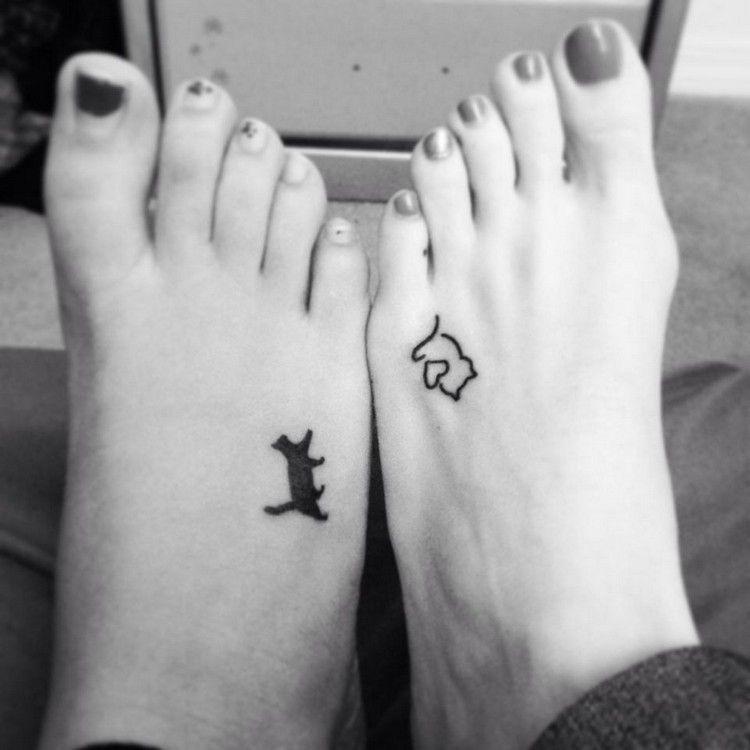 kleine Katzen Tattoos am Fußrücken | Tattoos | Pinterest | Tattoo ...
