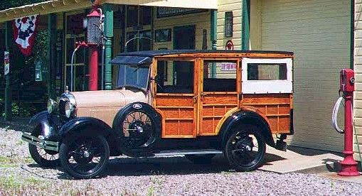 1929 Ford Model A woodie station wagon Picture courtesy of owners George & Denise Konton Finleyville, PA USA